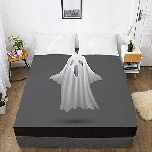 Bedclothes-Blanket Comfort sábanas, 3D Impresión Digital Sábana Colcha Cubierta Protectora de colchón de Halloween-Los 200x200x30cm_7