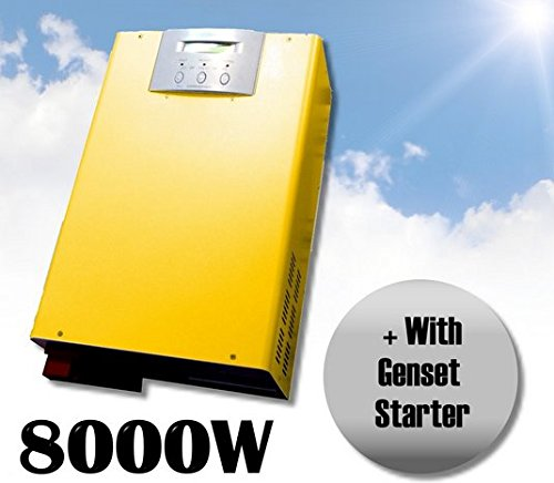 Gowe Wechselrichter, 8000 W, Solar-Wechselrichter, reiner Sinus-Wechselrichter mit Ladeausgang, 220 V, 48 V