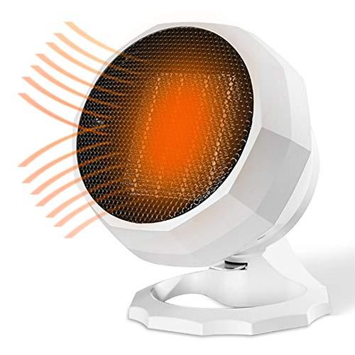 yestter - Mini radiador portátil de 220 V con Mini Ventilador soplador de cerámica y Ventilador de bajo Consumo eléctrico de energía para Oficina o Dormitorio