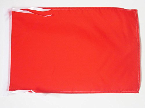 AZ FLAG Flagge EINFARBIG ROT 45x30cm mit Kordel - EINFARBIG Fahne 30 x 45 cm - flaggen Top Qualität