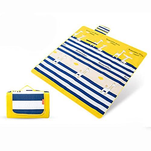 Picknickdecke, 200 x 200 cm, geeignet für Strände, Parks, Koppeln, Camping-Picknick-Teppiche und Matten mit wasserdichter Schicht, maschinenwaschbar, faltbar B