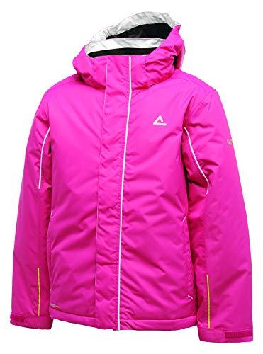 Dare2b Kinder Ski-Jacke mit Kapuze, wasserdicht und atmungsaktiv, isoliert, freundliche Farbe, Kinder, fuchsia, 9-10 Jahre (EU 140)