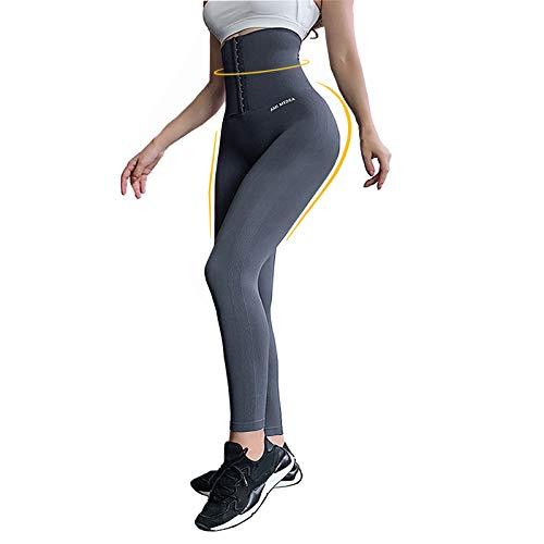 Damen Sport Leggings Lange Blickdicht Yoga Leggings Figurformende Sporthose Yogahose Fitnesshose mit Hohe Taille Bauchkontrolle