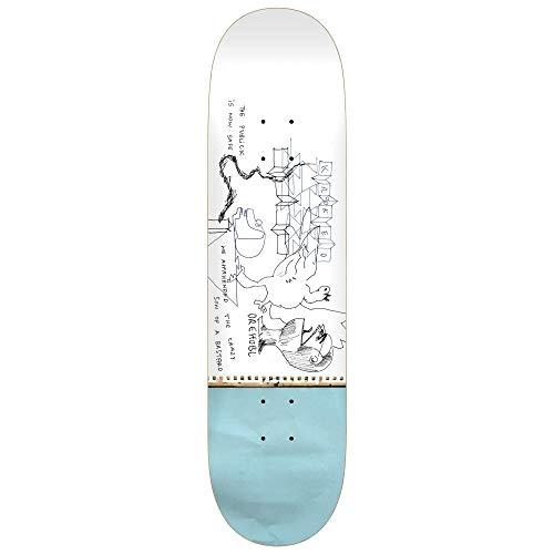 Krooked Drehobl Publick Skateboard-Brett / Deck, Blau / Weiß