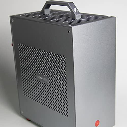WSNBB Caja De Consola De Juegos De Torre Media ATX, Mini Caja De ITX, Fuente De Alimentación 1U, Caja De Aluminio, Consola De Juegos A4 Personalizada