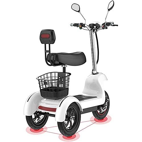 J&LILI Scooter De Triciclo Eléctrico - Scooter Eléctrico De 3 Ruedas para...