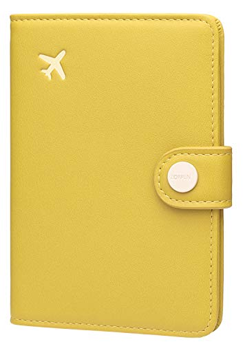 Zoppen Passport Cover Rfid Blocking Travel Passport Wallet Slim Id Card Case (#32 Cabalt Yellow)