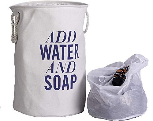 LHYLHY Laundry Basket-Large Foldable Laundry Basket-Mesh Laundry Bag-Linen Cover-Washing Sorter-Foldable Laundry Basket