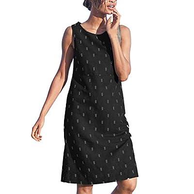 JustWin Summer Fashion Vintage Dress Women Sleeveless Beach Printed Mini Dress Cocktail Casual Short Dress