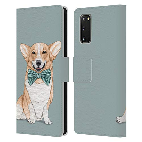 Head Case Designs Officially Licensed Barruf Corgi Dogs Leather Book Wallet Case Cover Compatible with Samsung Galaxy S20 / S20 5G