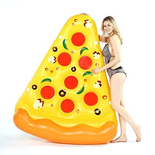 Pizza Inflable Fiesta en la Piscina Flotador Balsa Verano Piscina al Aire Libre Flotador Inflable Salón Tumbonas de Piscina para Adultos Niños