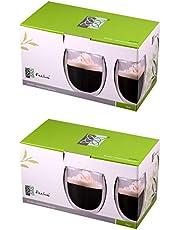 Feelino Rondini 4 X 400 ml termos szklanki do herbaty, do przystawek, marmolady, bardzo duże z efektem unoszenia się