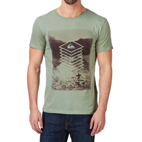 Quiksilver Herren T-Shirt Short Sleeve Globe Tee Z1, Light Army, XL