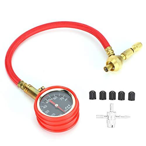 Medidor de presión de puntero de metal para reacondicionamiento de automóviles, medidor de presión de neumáticos, probador de neumáticos, ABS para reacondicionamiento de automóviles