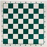 Soul hill Torneo de Tablero de ajedrez Juego de ajedrez -Estándar Vinilo Enrollable Bosque Verde / XQQP-01 zcaqtajro