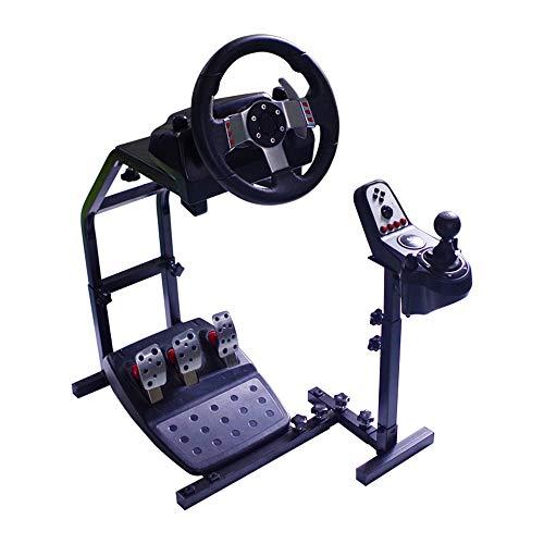 WRISCG Support de Volant de Carrière Pliable - Réglable pour la Console de Course Pédales de Volant Racing Simulator Simulateur de Conduite Cockpit Gaming Gear Support PS3 PS4 Xbox PC