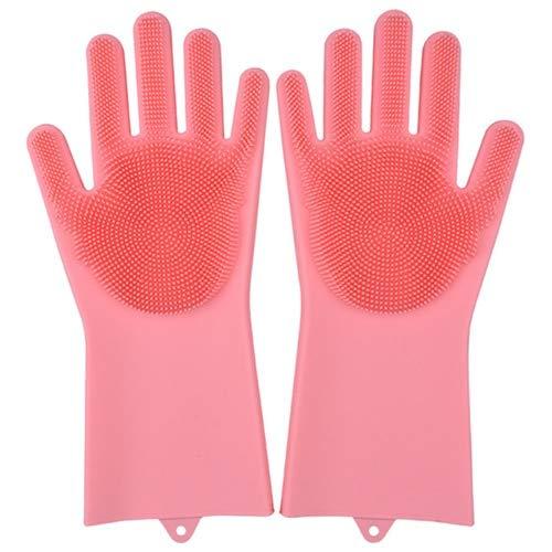 Las Herramientas de Limpieza de Guantes de Silicona multifuncionales para cocinas Son adecuadas para hoteles y restaurantes y se Pueden Usar repetidamente-Pink