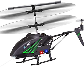 VATOS RC Helicopter Remote Control Helicopter with Gyro and LED Light 3.5 Channel Alloy Mini Helicopter Remote Control for Kids