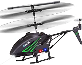 VATOS RC Helicopter, Remote Control Helicopter with Gyro and LED Light 3.5 Channel Alloy Mini Helicopter Remote Control for Kids