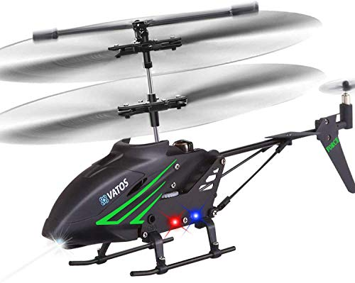 RC Helicopter, Remote Control Helicopter with Gyro and LED Light 3.5 Channel Alloy Mini Helicopter Remote Control for Kids