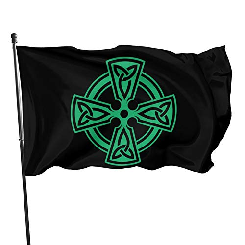 Celtic Cross Knot Irish Shield Warrior 3x5 Foot Flag Outdoor Flag 100% Single-Layer Translucent Polyester 3x5 Ft Flag