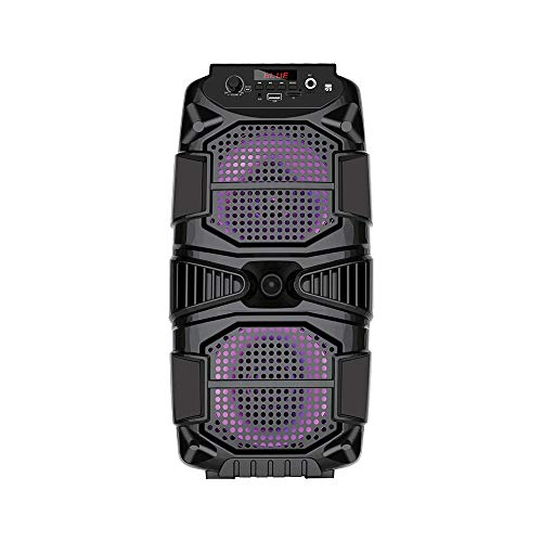Xtreme videogames Monitor Speaker Wireless BT Matrix con Luci LED Microfono e Telecomando 33182, Nero