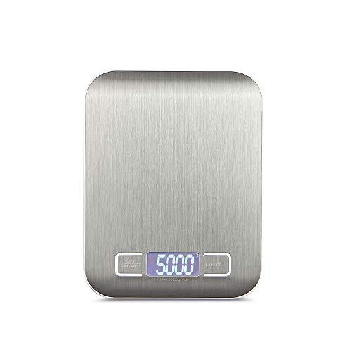 KKmoon Báscula digital con Pantalla LCD Báscula de cocina portátil