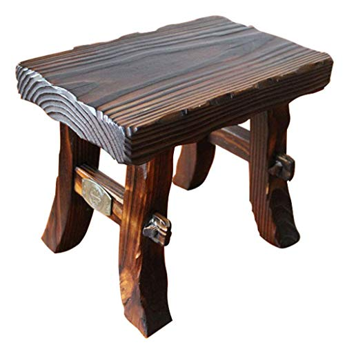 QXX Carl Artbay kruk, retro, huishouden, bank van hout, dik, 4 voeten, voor make-uptafel/kaptafel, bruin (maat: 281823 cm) 34*23*40cm Qfb84-w1