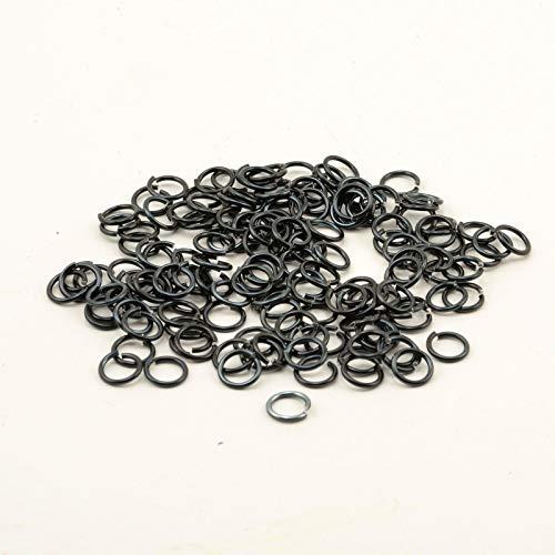 Vaessen Creative Alu Deco jump rings 7,25mm x150 black,