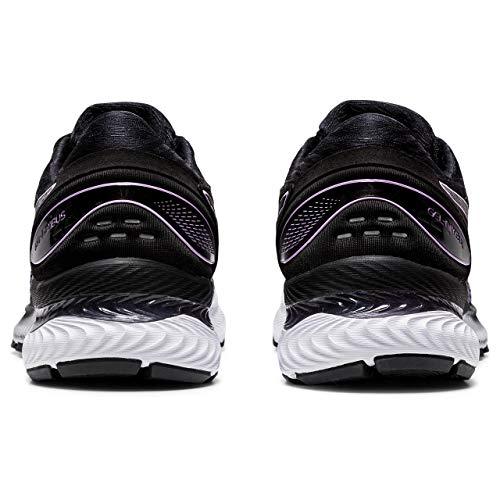Asics Gel-Nimbus 22, Zapatos para Correr para Mujer, Black Bio Mint, 37.5 EU