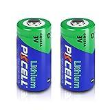 3V CR123A 123A CR17345 1500mah Lithium Batteries 2Pcs (Non-Rechargeable)