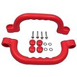 Gartenpirat Haltegriffe rot Zubehör Spielanlagen Set mit 2 Handgriffe für Kinder