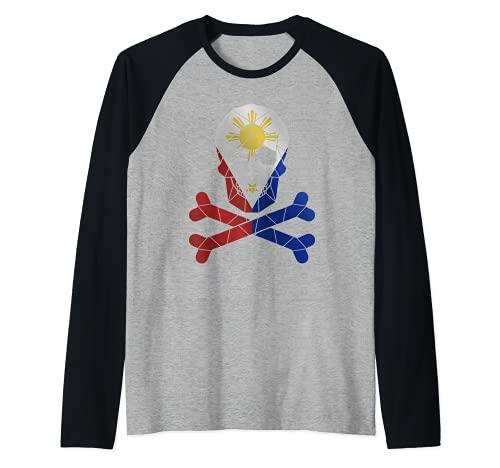 Filipino Shirt Barong Women Barong Tagalog for Women Skull Raglan Baseball Tee