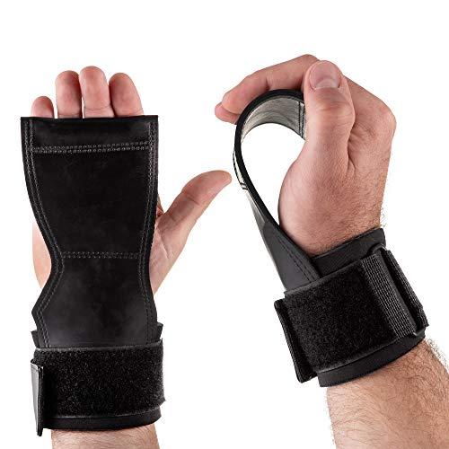 Legend Correas de Levantamiento - Vendaje de muñeca - Grippad-Cobra para Fisicoculturismo, Fitness, Crossfit, Musculación, Powerlifting - mejor agarre - Protección de la palma de la mano