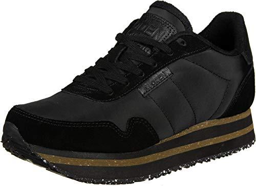 Woden WL1750 Nora - Damen Schuhe Sneaker - 100-ribbon-red, Schwarz, 38 EU