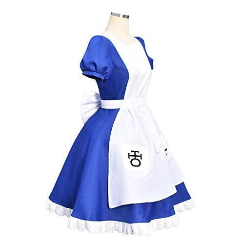 FINDPITAYA Disfraz Alice Frenzy Devoluciones Mujer Cosplay Costume (S)