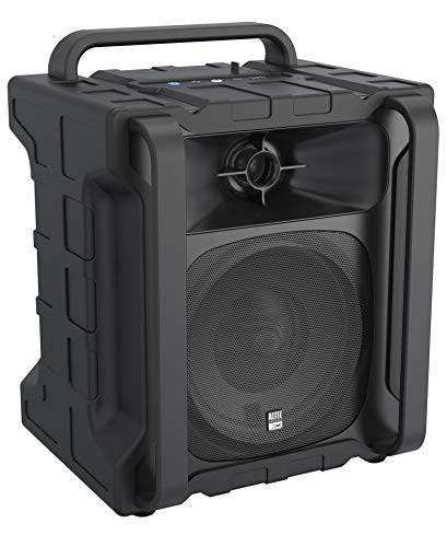 Altec Lansing Sonic Boom 2 Bluetooth Speaker IMT804 | Ultimate Waterproof Wireless Bluetooth Speaker, Built-In Charging Station, 50ft Range, 20 Hour Battery Life (Black)