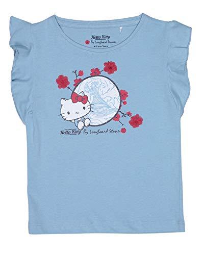 Camiseta de manga corta para niña, diseño de Hello Kitty, color azul claro azul 6-7 Años