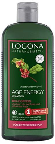 Logona cosmetici naturali Age Energy Shampoo Bio di caffeina, rafforza & vitalisiert, per geschmeidiges capelli, stimola bei regelm. Applicazione la crescita dei capelli, con Estratti Bio, 250ML