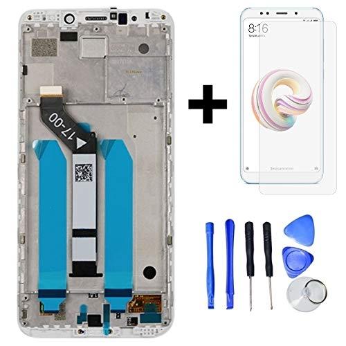 Hypak Pantalla Completa para Xiaomi Redmi 5 Plus (con Marco) Repuesto LCD Tactil Digitalizador (Blanco)