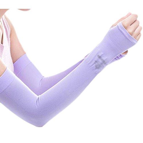 Black Temptation Unisex Outdoor Sunscreen vêtements Mitaines Respirant Cyclisme Soleil Manches de Protection-Violet