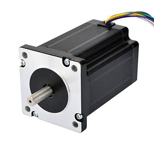 STEPPERONLINE Doppelschaft Nema 24 CNC Stepper 3.1Nm 60x80mm 8-Lead für 3D-Drucker Reprap, CNC-Maschine oder Robotik