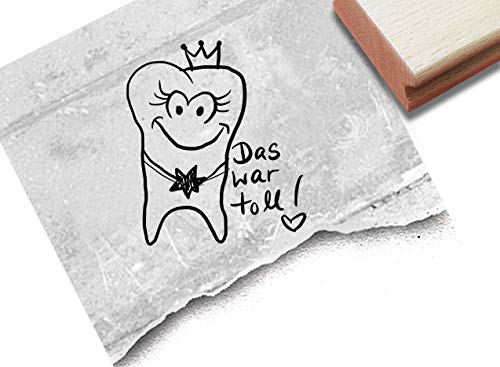 Stempel Arztstempel Belohnungsstempel - DAS WAR TOLL! mit Bildmotiv Zahn - Motivation Belohnung für Kinder beim Zahnarzt - von zAcheR-fineT