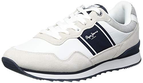 Pepe Jeans Cross 4 Sailor, Zapatillas Hombre, 800 Blanco, 45 EU