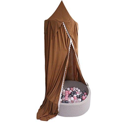 Moustiquaire ciel de lit pour enfants Lit Bébé, coton dôme Princesse Dentelle Filet tentes pour bébé enfants lecture Jouez à des Jeux d'intérieur Maison