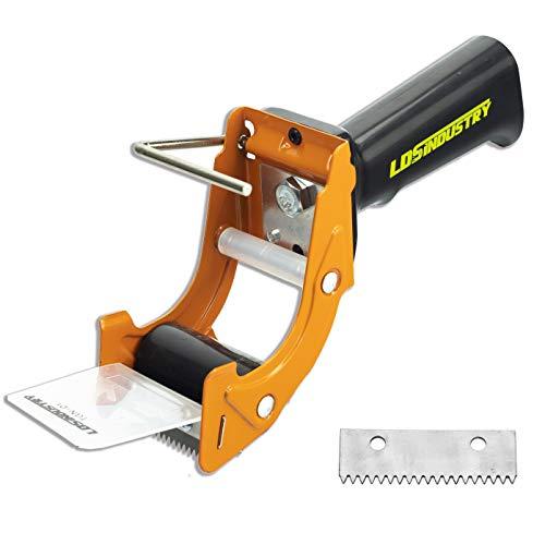 Dispensadores de Cinta Adhesiva con Mango Ergonómico, 50mm Dispensador de Cinta para Fácil Utilización en Trabajos de Empaquetado Pistola dispensadora de cinta de reemplazo rápido hoja adicional