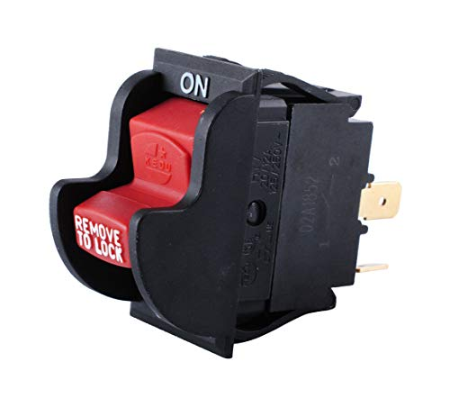 Podoy Table Saw Switch For Compatible with Delta Ryobi 2 Prong Drill Press 489105-00 46023 Replaces Porter Cable 125/250V 20/12A Lock Toggle On-Off