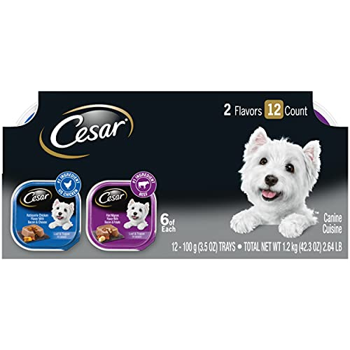 CESAR Soft Wet Dog Food Loaf in Sauce Rotisserie Chicken Flavor...