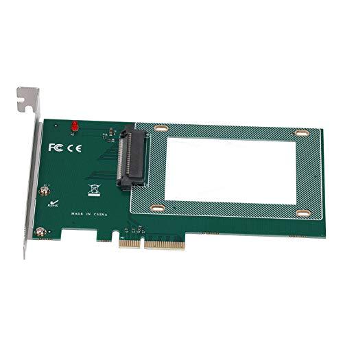 Cuifati Tarjeta adaptadora PCI-E X4 U.2 ST517 Tarjeta adaptadora PCI-E X4 U.2 SFF-8639 U.2 a Tarjeta de expansión PCIE para SSD NVME U.2 de 2,5'y SSD SATA de 2,5'