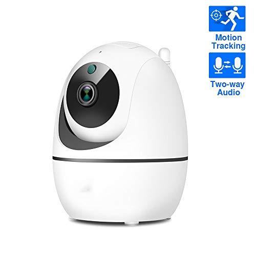 HSLIUYILYA 1080P Überwachungskamera, WiFi-Kamera Drahtloser Indoor CCTV-Kamera Mit Nachtsicht, Bewegungs-Tracker, Für Hauptüberwachung/Tier/Baby/Elder,FJ1C+64G Card